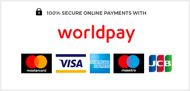 100% secure online payments with WorldPay